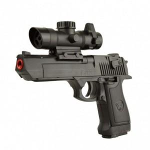 141458 Pistolet en plastique jouet 1823-87 avec pointeur 6 mm billes incluses