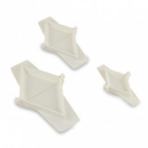 227626 Lot de 3 moules à ravioli triangulaires de différentes tailles WelkHome