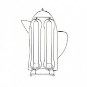 365977 Porte-capsules café avec forme théière pour 16 capsules WELKHOME en métal