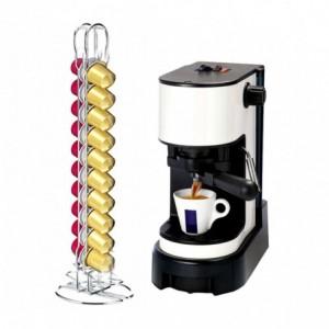 365960 Porte-capsules café pour 18 capsules WELKHOME en métal 2 colonnes