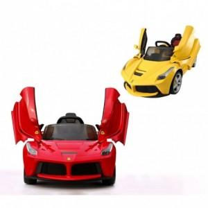 B90106 Voiture électrique pour enfants FIAT 500C siège en cuir 12V télécommandée