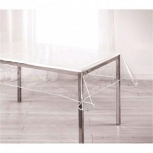 302996 Nappe rectangulaire toile cirée en PVC 150x275 cm imperméable transparent