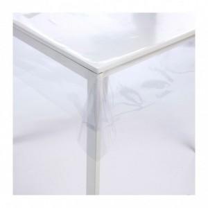 302965 Nappe carrée toile cirée en PVC 140 x 140 cm imperméable et transparente