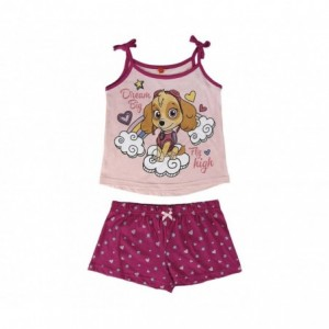 22-1971 Pyjama d'été PAW PATROL pour enfant en coton tailles du 2 au 6 ans