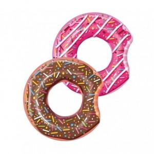 36121 Bouée gonflable donut diamètre 107 cm Bestway chocolat ou fraise