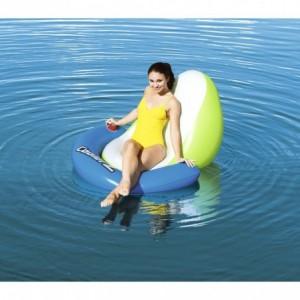 43136 Matelas détente de piscine Sit-N-Sun Coolerz 150x140 cm avec porte-gobelet