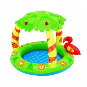 52179 Pataugeoire gonflable Jungle enfant avec marquise 99x91x71 cm Bestway