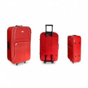 383526 Set de 3 valises Trolley EVERTOP en tissu bagage à main avec code