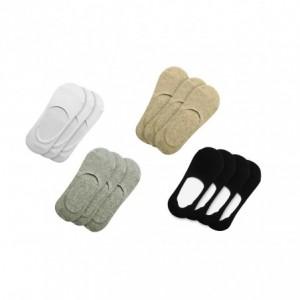 Lot 12 paires de chaussettes femme avec bande de silicone antidérapante NY-700D