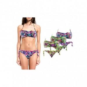 DW8885 Maillot de bain bikini rembourrés mod. ALICE avec dessins de fleurs