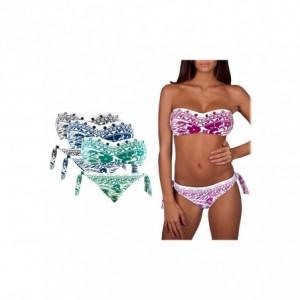 DW8891 Maillot de bain bikini rembourrés mod. VANESSA fantaisie ethnique