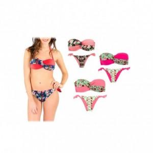 A8912 Maillot de bain bikini rembourrés mod. BLUEMARY fantaisie de fleurs