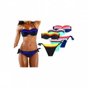CY9923 Maillot de bain bikini rembourrés mod. AURORA avec détails broderie