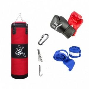 Kit de boxe complet 10749 avec des gants  sac et un crochet pour entraînement