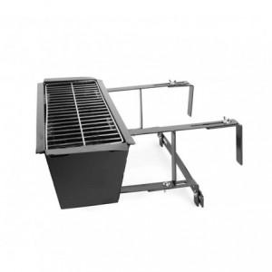 Barbecue universel 10756 pour balustrades de balcon 19x58x38 cm brasier