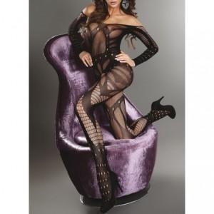 Tenue sexy sensuelle - mod.CATSUIT II couleur noire - femme - Saint-Valentin