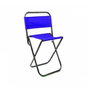 261682 Tabouret pliant EVERTOP pour camper ou pour la plage avec dossier