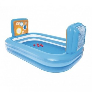 54170 Piscine gonflable enfants de waterpolo avec cages 237x152x94cm