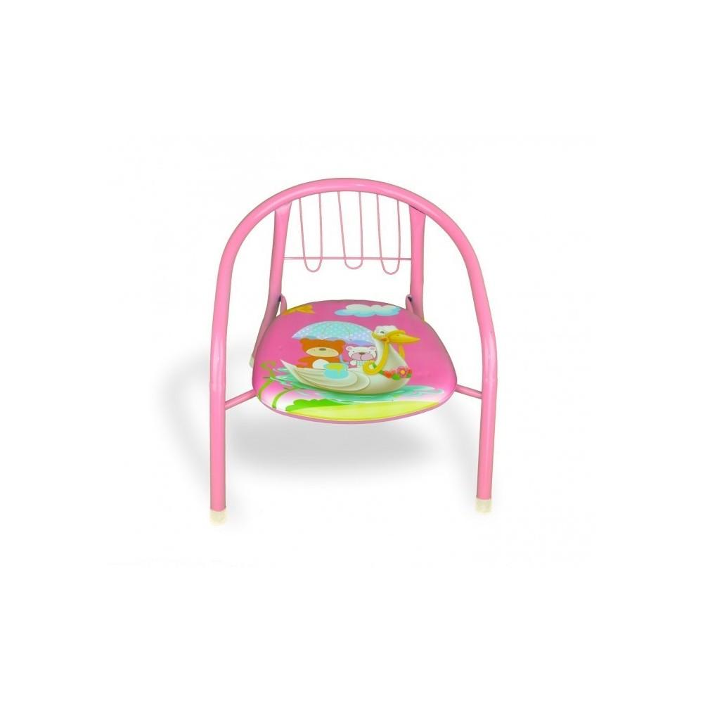 155352 Chaise enfant différente couleur en métal, + sifflet  15kg max 36x34x35cm
