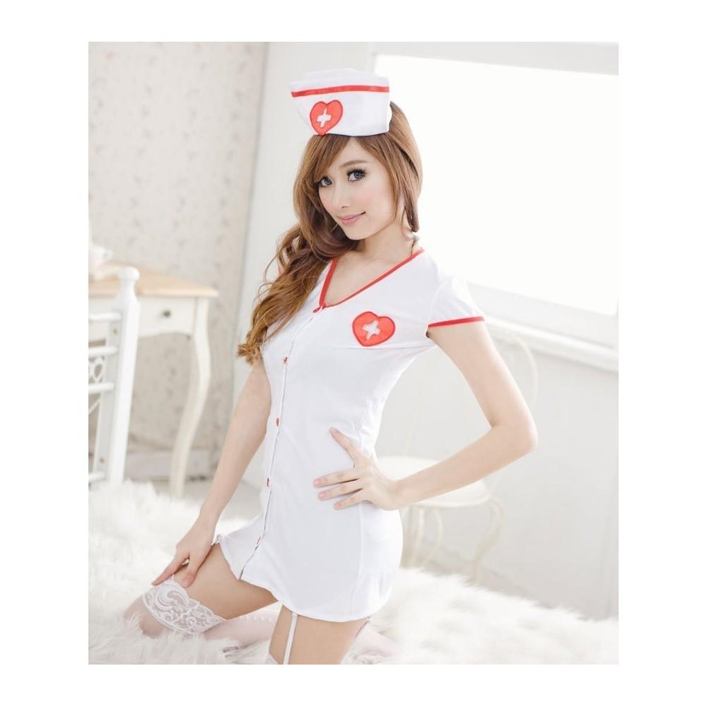 Tenue infirmière sexy - robe complète sexy