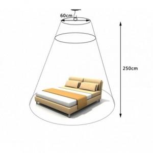 176740 Moustiquaire-rideaux pour lit 60 x 250 x 1200 cm EVEVERTOP