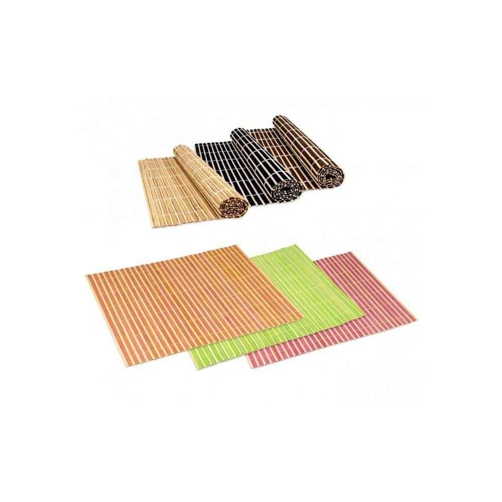 137697 set de table en bambou d corative color e pour table 30x40cm. Black Bedroom Furniture Sets. Home Design Ideas