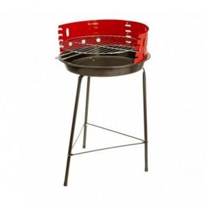 429761 Barbecue rond 60 x 36 cm avec grille de cuisson incluse et pare-vent