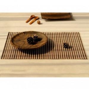 137697 Ensemble de 4 set de table en bambou de différentes couleurs 30x40cm