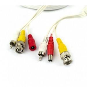 Câble pour le signal audio et vidéo des caméras BNC RCA 10 mètres