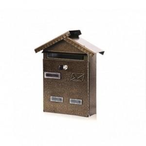 Boîte aux lettres en forme de maison ARTIGIAN FERRO Art. 700.BIS.  28x9x35 cm
