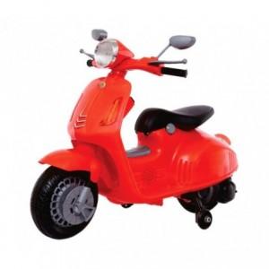 B38110 Moto électrique pour enfant VESPINA avec roulettes 12V son, lumière MP3
