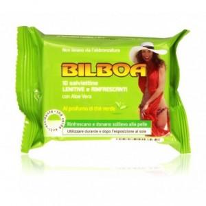 Paquet de 10 torchons verts Bilboa apaisants et rafraîchissants pour