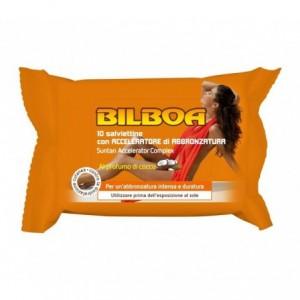 Paquet de 10 lingettes Bilboa accélérateur de bronzage arôme de noix de coco