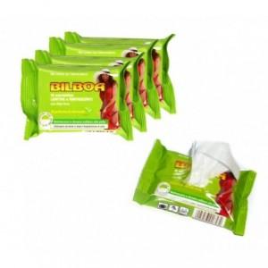 Pack de 50 lingett lingettes au thé verts Bilboa apaisantes et rafraîchissantes