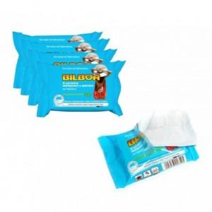 Pack de 50 lingettes menthe Bilboa rafraîchissantes, hydratantes après soleil