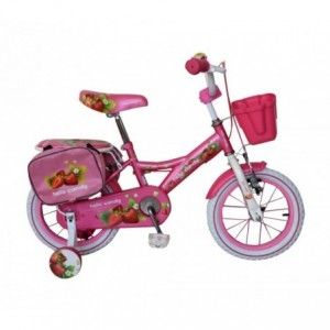 "RS1409 Vélo fille HELLO CANDY taille 14"" cadre acier age 3 - 6 ans"