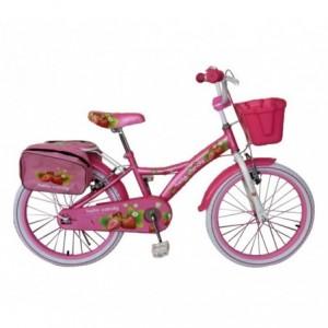 "RS1409 Vélo fille HELLO CANDY taille 20"" cadre acier age 6 - 10 ans"