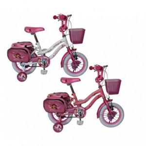 Vélo RS1211 pour filles Cadre PRINCESS taille 12 en acier âge 2 - 5 ans