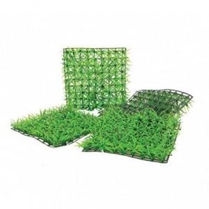 036392 Set de 16 Parcelle de gazon synthétique réaliste pour jardin 25x25 cm