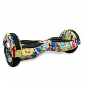 """Hoverboard BSCI Roues 8"""" SMART DRIFTING SCOOTER fantaisie Graffiti White"""