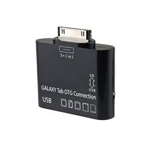 Adaptateur -5 en 1 Samsung GALAXY Tab compatible avec port USB lecteur de carte
