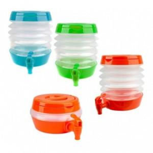 224328 Bidon d'eau à soufflet avec robinet  économie d'espace WELKHOME 3.5 Lt
