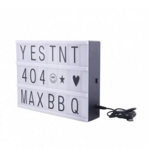181774 Panneau rétro-éclairé Led LightBox format A4 96 charactères 30x23C cm