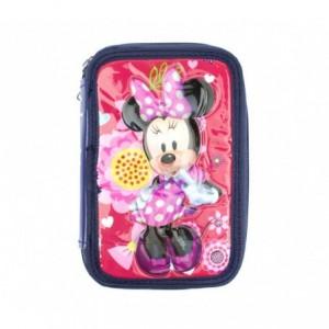 455593 Trousse + Matériels 3 compartiments 43pcs SCUOLA Disney PINK THUNDER