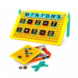 098318 Tableau double face créatif avec legos  LES MINIONS  37x22x15 cm