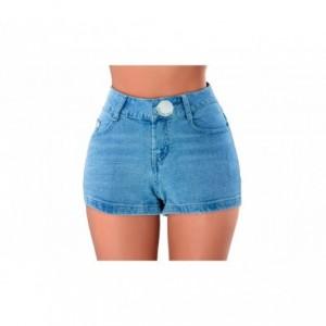 Short pour femmes en jeans FORBIDDEN ZONE effet moulant
