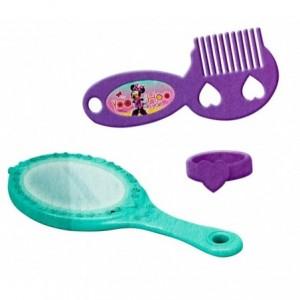 084441 Salon de beauté avec tabouret Disney Minnie vanity 12 accessoires 78cm