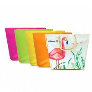 427124  sac de plage Sabrina Tenori Flamingo  avec double anse, plusieur coloris