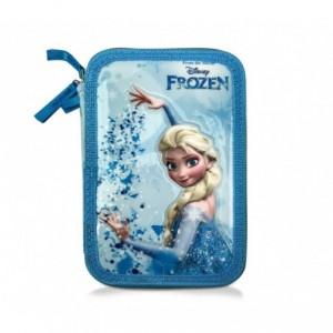 455593 Trousse 3 compartiments  inclue  43pcs Elsa reine des neiges