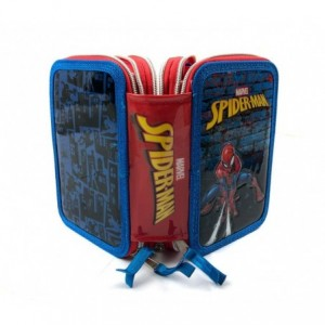 455500  Trousse 3 compartiments  inclue  43pcs Spiderman